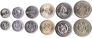 Guatemala 6 Coins Set 2000 UNC 1 CENTAVO - 1 Quetzal Collectible Coins from Central America
