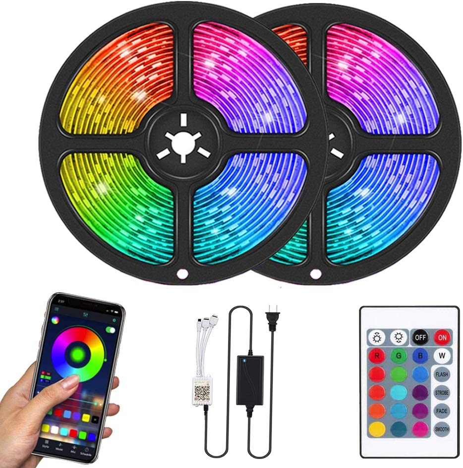 At the price of surprise Led Strip Lights Flykul 32.8 Feet 10m Color 300 Max 56% OFF Changing LEDs