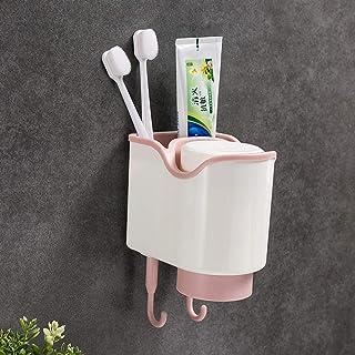 Blanco Yardwe Soporte de Cepillo de Dientes Montado en Pared Soporte de Vaso de Cepillo con Ventosa para Ba/ño Cocina