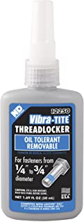 Best Vibra-TITE - 12250 122 Oil Tolerant Removable Anaerobic Threadlocker, 50 ml Bottle, Blue Review