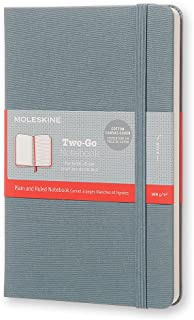 Moleskine Two-Go Textile Notebook, Hard Cover, Medium (4.5
