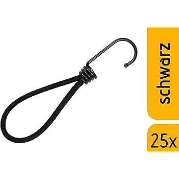 SPANNGUMMI schwarz 24 St. 0,48€//ST mit Kugel Planenspanner 20cm Zelt