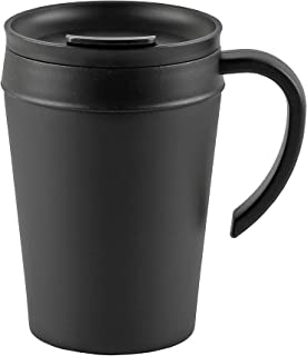 【BLKP】 パール金属 マグカップ 400ml 蓋付き 限定 ブラック BLKP 黒 AZ-5023