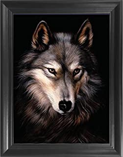 Wolf Portrait Large 3D Poster Wall Art Decor Framed Print | 22.5x26.5 | Lenticular Posters & Pictures | Memorabilia for Guys & Girls Bedroom | Woodland Animal Picture for Kids Room Decorations