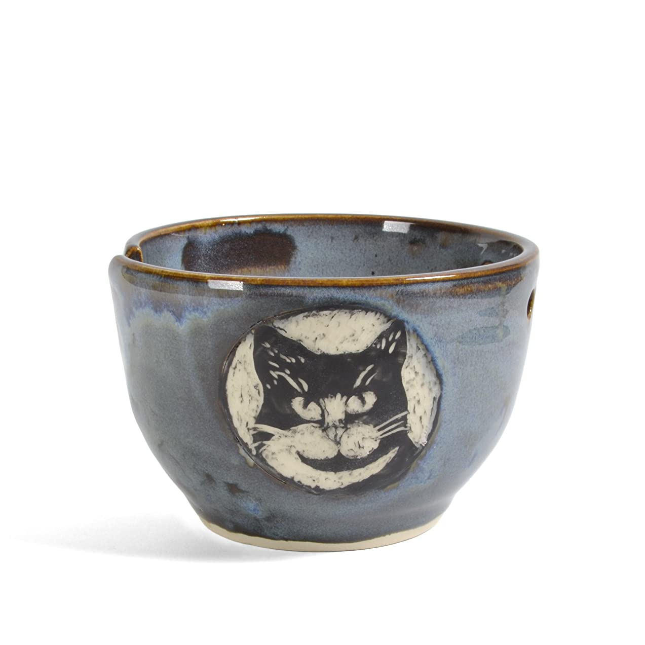 Goldhawk Pottery Tuxedo Cat Yarn Bowl