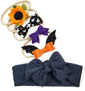 Baby bows and headbands, Soft nylon, newborn to toddler, Variety Pack, MADE IN USA