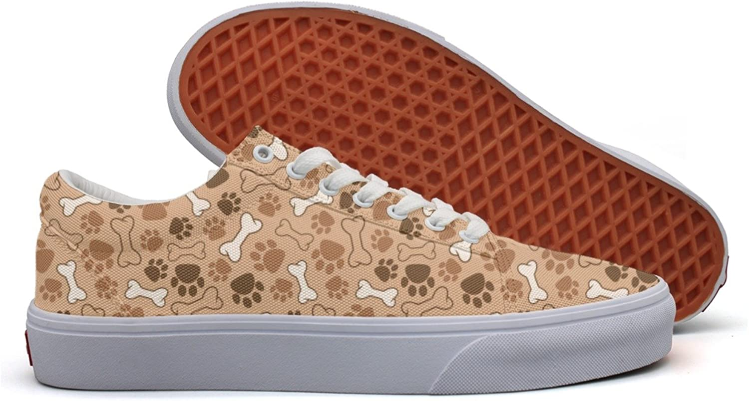 Pet Paw And Bones Womens Light Canvas Boat shoes Low Top Comfortable Athletic Sneakers For Women's