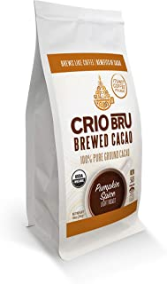 Crio Bru Pumpkin Spice Light Roast 10oz Bag | Organic Healthy Brewed Cacao Drink | Great Substitute to Herbal Tea and Coff...