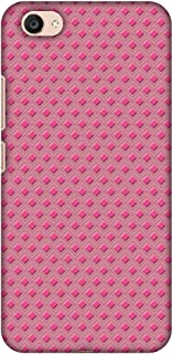 AMZER Slim Fit Handcrafted Designer Printed Hard Shell Case Back Cover Skin for Vivo V5 Plus - Retro Diamond HD Color