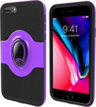 UrbanDrama for Apple iPhone 8 Plus Case iPhone 7 Plus Case Ring Stand Dual Layer TPU Bumper Anti-Scratch Shockproof Support Magnetic Car Mount Holder Thin Soft Case for Apple 8 Plus 5.5 inch, Purple