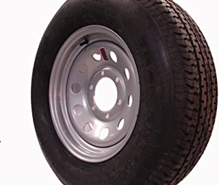 """16"""" Silver Mod Trailer Wheel 6 Lug with Radial ST235/80R16 Tire Mounted (6x5.5) bolt circle"""