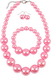 Women's Large Big Simulated Pearl Statement 19