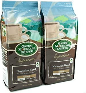 Green Mountain Coffee Roasters, Nantucket Blend, 12 oz. Ground Bag, Medium Roast Coffee, (2) Bags