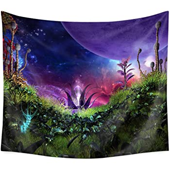 Amazon Com Qcwn Fairy Tale Forest Tapestry Fantasy Style Wall Hanging Home Decoration For Bedroom And Living Room 11 59wx51l Home Kitchen