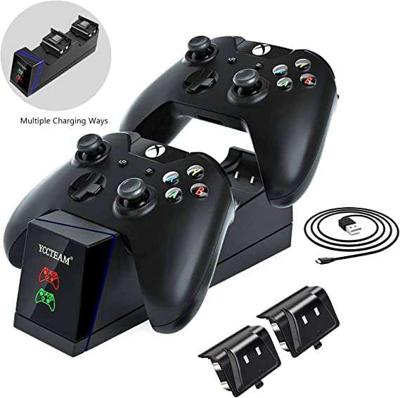 DCMEKA Dual Controller Charger for Xbox One/One X/One S/One Elite