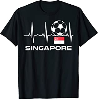 Singapore Soccer T-Shirt - Football Heartbeat Singapore Tee