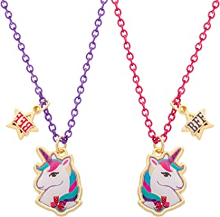 JoJo Siwa Unicorn Best Friends Forever Set Of 2 Necklaces, 16 + 2