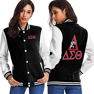 Delta Sigma Theta Womens Sport Baseball Uniform Jacket Coat Adult Sweater Coat