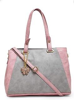 Butterflies Handbag For Women's & Girl's (Grey::Peach) (BNS 0771GY)