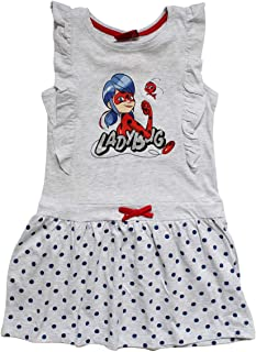 Bambina Miraculous LadyBug e Cat Noir Prodotto Originale con Licenza Ufficiale Tutina Coordinato Top Senza Maniche e Pantaloncino