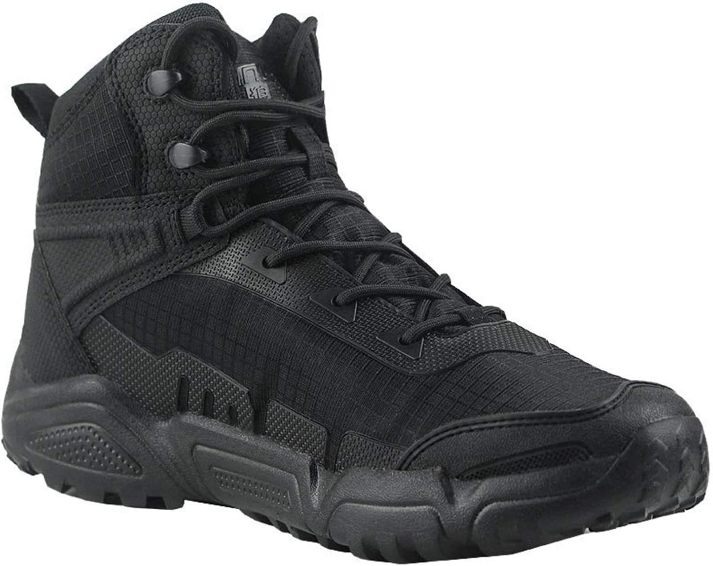 Men's Outdoor Combat Boots Military Boots, Light and Breathable Hiking Boots Camping Desert Boots, Safety Work Shoes, Wear-Resistant Shock-Absorbing Hiking Boots, Used for Hiking, Hunting, Camping