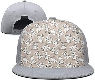 Bear Classic Sun Snapback Fitted Flat Brim Dad Baseball Hat Caps for Mens Womens Visor