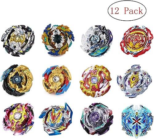 YZKJ Toupies Beyblade Burst Starter - éducation Puzzle Jouets - 12 X toupies + 4 X lanceurs + 2 X Poignée spéciale + 1 X Coffret Cadeau Exquis - P82