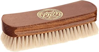 Collonil 1909 Fine Polishing Brush Made with Real Natural Goat Hair with Wood Handle (6½ in.) for Polishing & Cleaning All Designer Leather Shoes, Clothes, and Handbags.