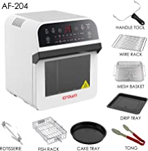 Crownline Hot Air Fryer With Oven, White, AF-204