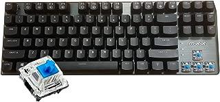 Rantopad MXX Mechanical Gaming Keyboard - 87 Keys,White Backlit, Blue Switches, Grey Aluminum Cover, N-Key Rollover