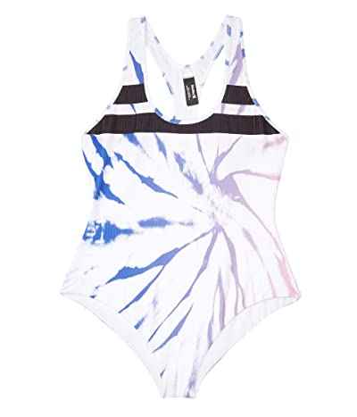 Hurley Block Party Rib Spider Royale One-Piece (Racer Blue) Women