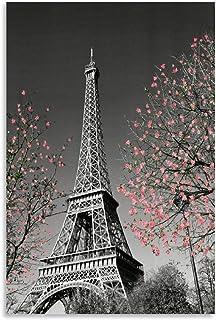 OIIP Posters/posters Tour Eiffel Peinture décorative sur toile pour salon, chambre à coucher 40 x 60 cm