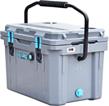 Cubix Ice Chests and Coolers | 20 Quart Gray Lifetime Rotomolded Ice Cooler | Portable and Hard | Great for Camping, Trave...