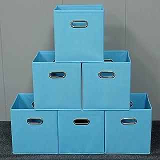 Hengqiyuan Lot De 6 Caisse De Rangement, Boîte De Rangement Pliable Cubes De Rangement Pliants en Tissu Faciles À Ranger p...