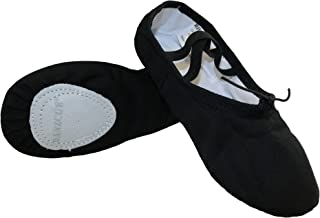 canvas split sole ballet slippers