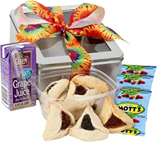 FATHERS DAY GIFT BASKET - Gluten Free Easter Gifts Ready for Gifting; Reusable Gift Tin includes Gluten Free Hamantaschen,...