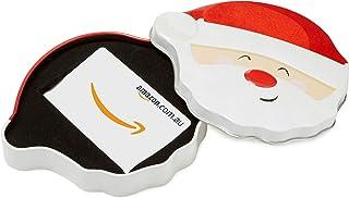 Amazon.com.au Gift Card for Custom Amount in a Santa Smile Tin