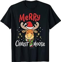 Merry Christmas Christmoose Moose Reindeer Antler Funny Gift T-Shirt