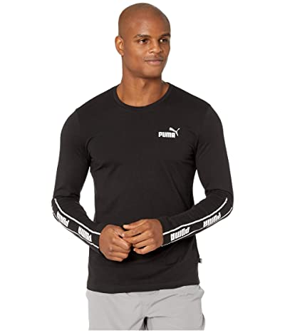 PUMA Amplified Long Sleeve Tee (PUMA Black) Men