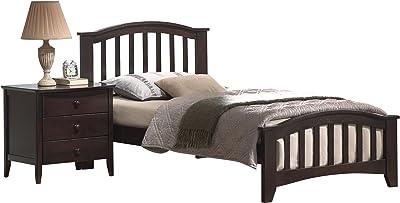 ACME San Marino Dark Walnut Twin Bed