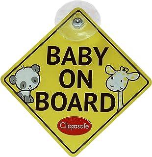 """Clippasafe, Schild """"Baby On Board"""" und """"Child On Board"""""""