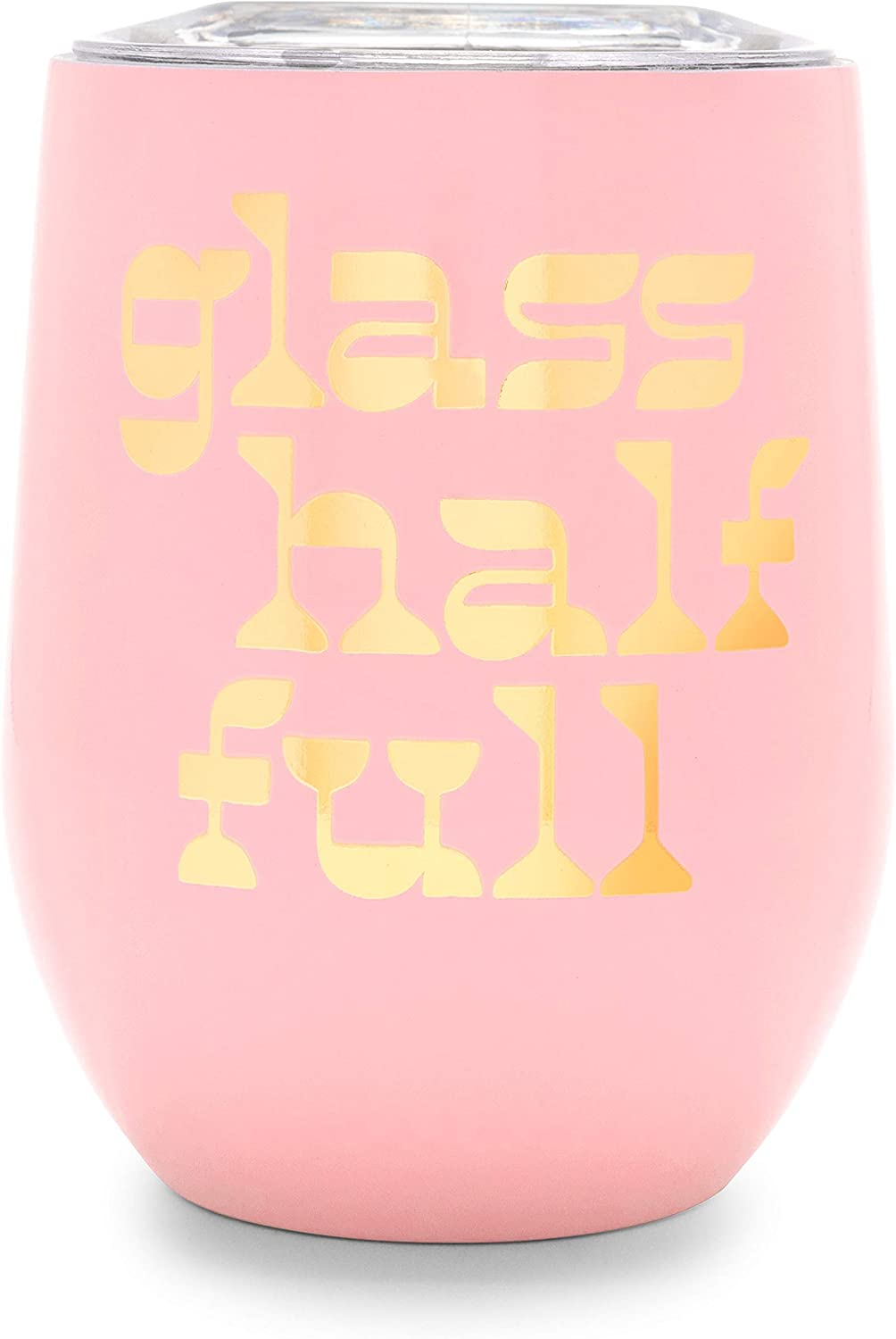 ban.do Pink Stainless Steel Stemless Wine Lid Tumbler Very popular! Glass Max 48% OFF with
