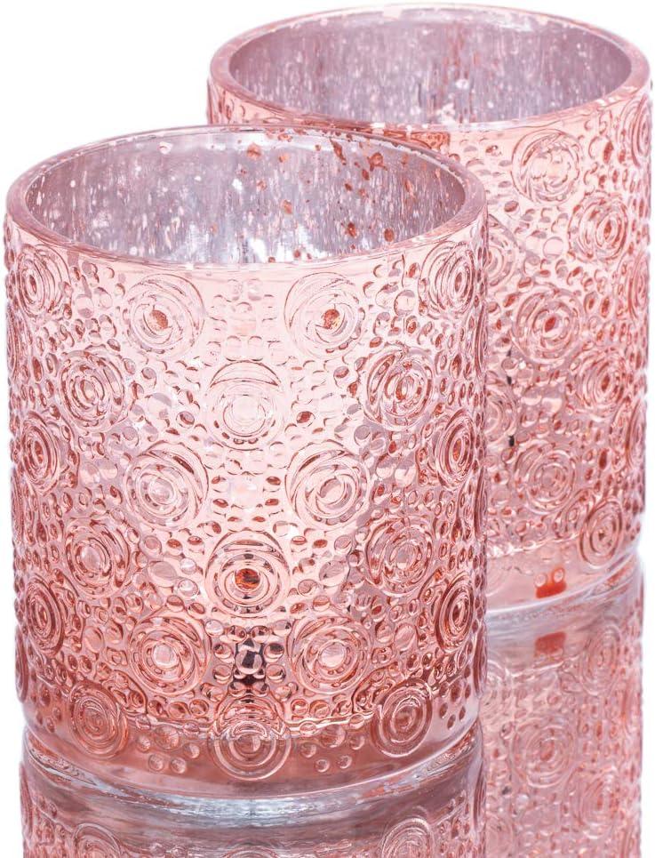 Richland Nadine Candle Holder Max 81% OFF Rose Gold Set Sales 24 of Large Mercury