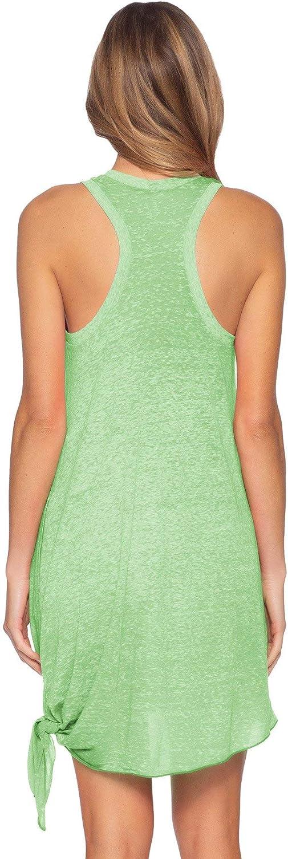 Becca by Rebecca Virtue Women's Beach Date Tie Side Tank Dress Swim Cover Up