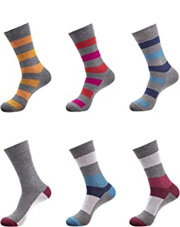 Mens Bamboo Casual Crew Socks Anti Odor Socks For Sweaty Feet Large Size 10-13 & X-Large Size 13-15
