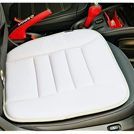 kingphenix Car Seat Cushion with 1.2inch Comfort Memory Foam, Seat Cushion for Car and Office Chair -Gray