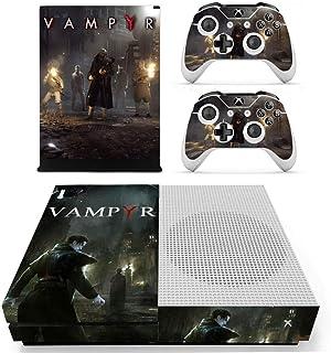 Adventure Games - XBOX ONE S - Vampyr- Vinyl Console Skin Decal Sticker + 2 Controller Skins Set