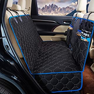 """Dog Back Seat Cover Protector Waterproof Scratchproof Nonslip Hammock for Dogs Backseat Protection Against Dirt and Pet Fur Durable Pets Seat Covers for Cars & SUVs (Blue, 58"""" Wx 56"""" L)"""