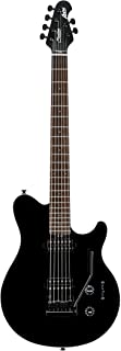Sterling By MusicMan 6 String Sterling by Music Man Axis AX3S Electric Guitar in Black with White Body Binding, AX3S-BK-R1)