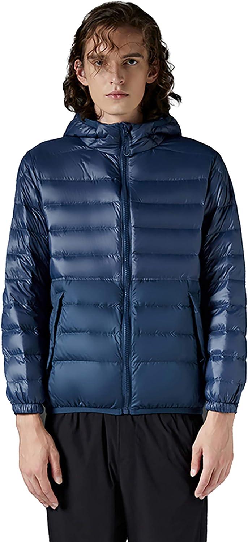 BabaLia Mens Lightweight Puffer Jacket with Hood Winter Tops Ultra Light Down Coat Warm Outwears